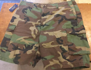 Polo Ralph Lauren PRL Mens Woodland Camo Cargo Shorts Size W36 MSRP $85