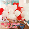 100 LOVE HEART SHAPE BALLOONS Wedding Party Romantic balloon Birthday decoration