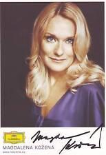 ORIGINALE Autografo-Magdalena Kozena (Oper/classica)