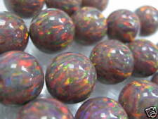 Beauitful Lab Created Synthetic Opal Beads 6mm 2pcs