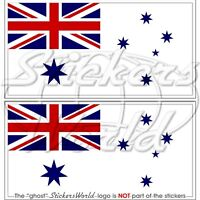 "AUSTRALIA Australian Navy Flag RAN Vinyl Bumper Stickers 110mm(4,3"") x2"