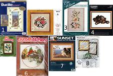 Choice: Crewel Embroidery Needlework Kits by Bucilla • Elsa Williams • Sunset