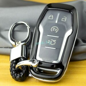 Smart Key Chain Fob Case Cover For Ford Fusion F150 Explorer Mustang Edge Black