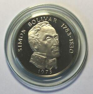 1973 Republic Of Panama 20 Balboas Coin 2000 Grains Sterling Silver