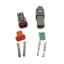 1 sets Kit Deutsch DT 2 Pin Waterproof Electrical Wire Connector plug Kit 22-16