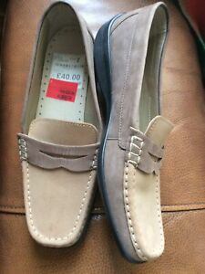 hotter Womans Brown Leather Shoes,moccasins,size 7.