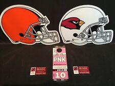 Arizona Cardinals vs Cleveland Browns 12/15 Pink PNK Lot Parking Pass Tickets