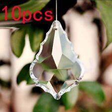 10PCS Maple leaf Clear Chandelier Glass Crystal Lamp Prisms Suncatcher Pendant