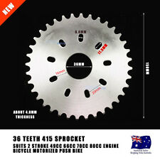 415 36 Tooth Chain Rear Sprocket Cog 49cc 80cc Motorised Motorized Bicycle Bike