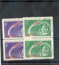 NORTH VIETNAM Sc 160-1(MI 166-7)VF USED, PAIRS, 1961 YURI GAGARIN SET $13
