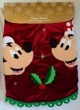 Disney Parks Santa Mickey & and Minnie Mouse Holly Christmas Tree Skirt - NEW