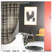 Missoni Black White Chevron Reversible Shower Curtain Brand NewPackage!