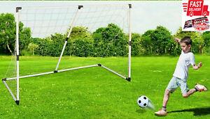187CM large Football goal post Net Soccer Goal Posts Ball Pump Set Kids Training