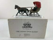Dept 56 New England Village, One Horse Open Sleigh, Mint In Box 5982-0