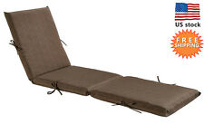 Bossima Outdoor/Indoor Cushion Patio Chaise Lounge Chair Seat Pad Coffee/Brown