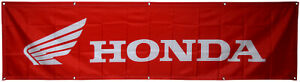 Honda Flag Automotive Red Wing 2x8ft banner US Shipper