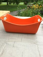 Rachael Ray Stoneware 9-Inch by 5-Inch Loaf Pan, Orange
