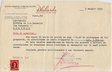 TRIESTE AMGFTT-3 lire marca da bollo usato su fattura-Firenze 5.5.1950
