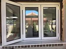 WHITE BIFOLD WINDOW | ALUMINIUM - DOUBLE GLAZED - 1200h x 1810w - 303 White