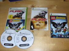 XBOX 360 GAME  LEGO BATMAN The Video Game  & PURE    *FREE UK P&P*