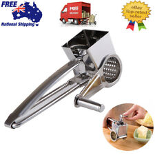 NEW CHEESE ROTARY GRATER Stainless Steel Barrel Drum Parmesan Chocolate Ginger