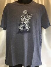LUCKY BRAND Men's Graphic Moto Joker Shirt Sleeve Blue Cotton T Shirt XL NWT
