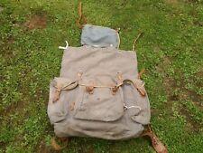 Vintage Canvas Rucksack Steel Frame Camping Hiking