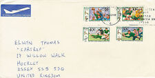 South Africa Rugby Centenary 1992 set of 4 stamps used on a cover