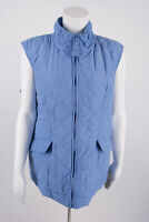 Joules Clothing Womens Size 14 Vest Jacket Collared Equestrian Light Blue Zip Up