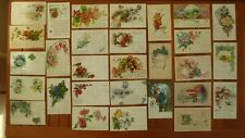 29 AK Postkarte Glückwunschkarte Litho Blumenmotiv vor 1914