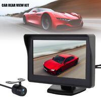 """Car Rear View Kit 4.3"""" TFT LCD Monitor +HD IR Night Vision Reversing Camera 170°"""