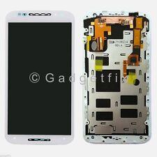 White Motorola Moto X 2nd Gen XT1093 XT1094 LCD Touch Screen Digitizer + Frame