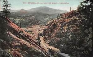 Moffat Road Railroad, COLORADO Tunnel No 30 Looking down on tracks vintage card