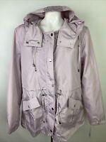 Mackintosh Women's Sx XL Anorak Windbreaker Rain Jacket Lilac Purple Pockets