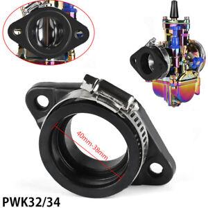 Mikuni Carburetor Carb Flange Manifold Intake Adapter Rubber 32mm 34mm Dirt Bike