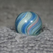 "NICE PEEWEE BLUE ONIONSKIN HANDMADE MARBLE  1/2""   0.480"""