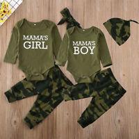 3pcs Newborn Toddler Infant Baby Boy Girl Clothes T-shirt Tops+Pants Outfits Set