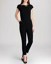 Ted Baker NILLIE Embellished Neckline Jumpsuit Black Size 0 BNWT - RRP $459.00