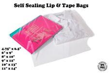 Self Sealing Lip & Tape Plastic Bags Clear Cello Merchandise Apparel 1.6 mil