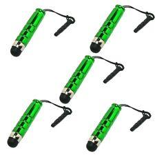 5 x mini entrada lápiz Touch lápiz táctil para Smartphone Tablet celular PDA verde