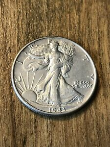 1943 Walking Liberty Half Dollar XF+