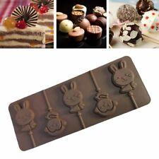 Silicone Baking Mold Rabbit&Monkey Lollipop Shape Pastry Dessert Chocolate Molds