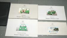 1999 Mercedes Benz A Class A140 A160 A60 CDI A170 CDI W168 Owners Manual Set
