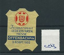 wbc. - CINDERELLA/POSTER - CE63 - EUROPE- INT. LEDERWAREN MESSE - OFFENBACH 1955