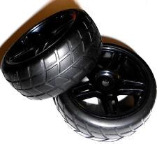 02185 1/10 Escala On Road RC Coche Ruedas y neumáticos x 2 Negro 5 Radios