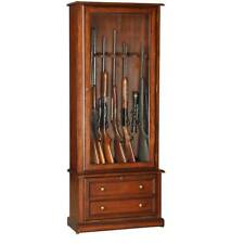 Eight-Gun Glass Door Wood Display Case Storage Cabinet