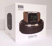 NOB Sena - Leather Case for Apple Watch- Black/Gunmetal