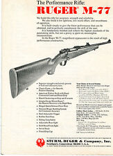 1975 Print Ad of Sturm Ruger Model M-77 The Performance Rifle