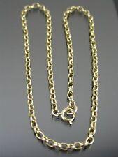 VINTAGE 9ct GOLD BELCHER LINK NECKLACE CHAIN 16 inch C.1970