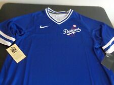 LOS ANGELES DODGERS Dri Fit NIKE Cooperstown XXL 2XL Jersey Shirt NEW Baseball